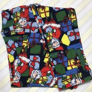 NWT Holiday LuLaRoe Kids' S/M Leggings Santa Gifts